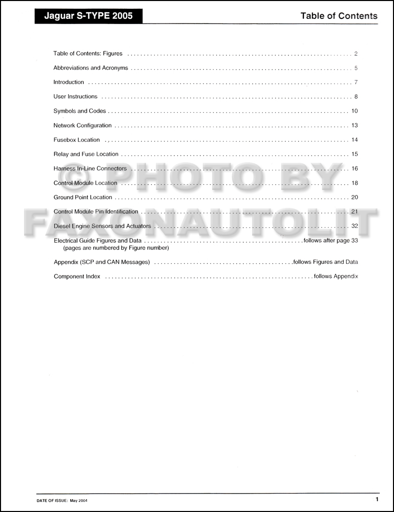 2005    Jaguar       S      Type    Electrical Guide Wiring    Diagram