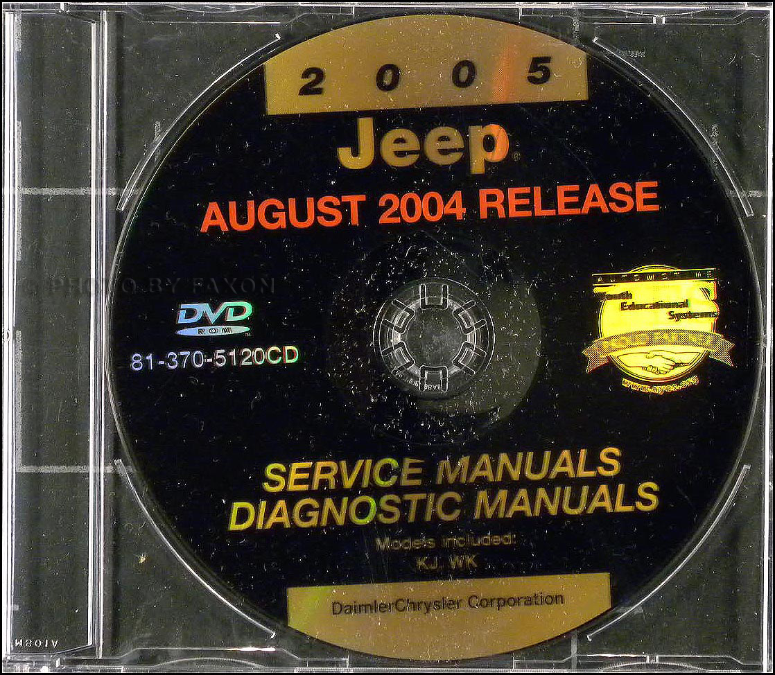 2005 Jeep Grand Cherokee Liberty Repair Shop Manual On Cd