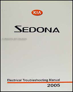 2005 Kia Sedona Electrical Troubleshooting Manual Original
