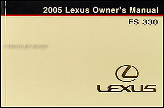2005 lexus es 330 navigation system owners manual original. Black Bedroom Furniture Sets. Home Design Ideas