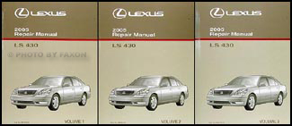 2005 lexus ls 430 repair shop manual original 3 volume set rh faxonautoliterature com 2005 Lexus Sedan 2005 lexus ls430 repair manual pdf