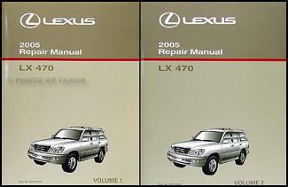 2005 Lexus LX 470 Shop Manual Set Original OEM LX470 ...