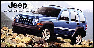 2005 Jeep Liberty Original Owner's Manual