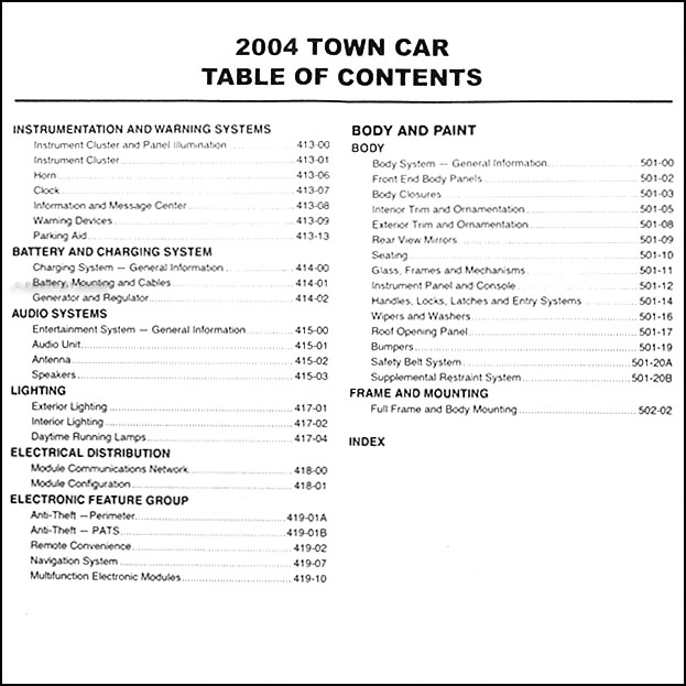 2005 lincoln town car repair shop manual original. Black Bedroom Furniture Sets. Home Design Ideas