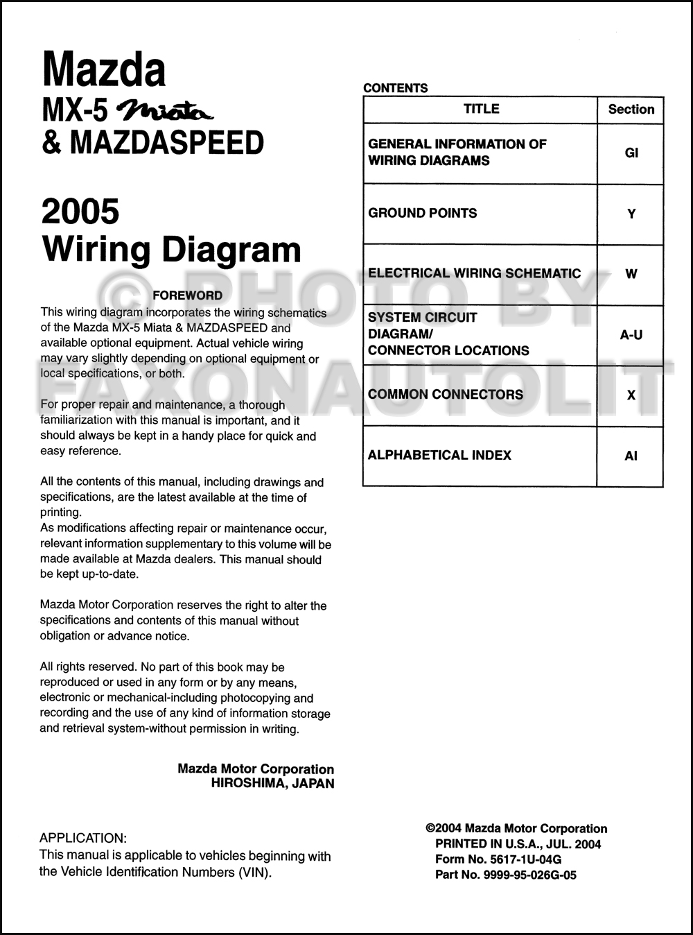 Mazdamx Miatamazdaspeedowd Toc on mazda miata wiring diagram