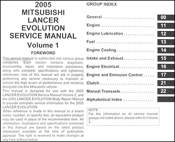 mitsubishi lancer 2005 owners manual pdf