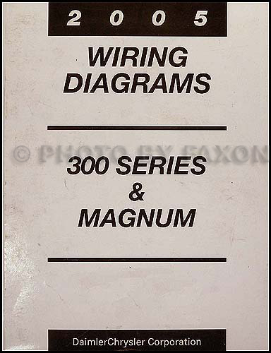 2005 chrysler 300 dodge magnum wiring diagram manual original rh faxonautoliterature com 2005 chrysler 300 wiring schematic 2006 Chrysler Wiring Diagrams
