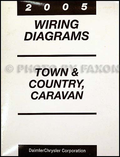 2005 Chysler Town & Country and Dodge Caravan Wiring Diagram Manual Original