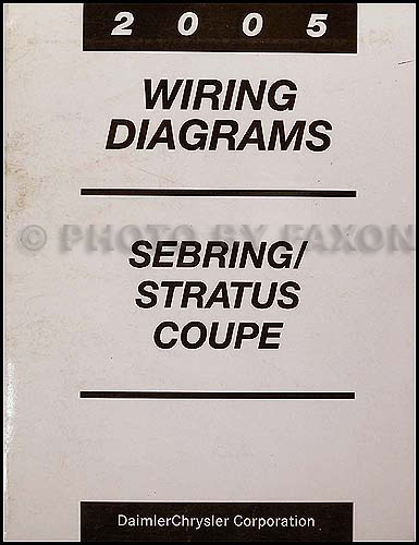 2005 chrysler sebring dodge stratus coupe wiring diagram manual original rh faxonautoliterature com 2001 Chrysler Sebring Parts Diagram Chrysler Sebring Sensors Diagram