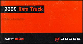 2005 dodge ram pickup truck owner manual original gas engine vehicles rh faxonautoliterature com dodge charger owners manual dodge owners manual pdf downloads