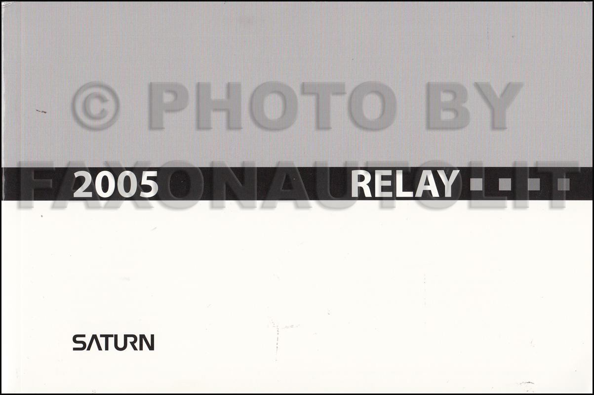 2005 saturn relay owner s manual original rh faxonautoliterature com 2007 Saturn Sky Specs 2008 Saturn Sky Turbo Red Lines