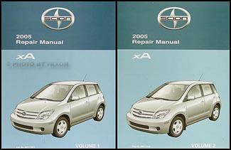 2005 scion xa repair shop manual original 2 vol set rh faxonautoliterature com 2006 scion xa parts manual 2006 scion xa owners manual download