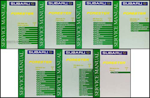 2005 subaru forester repair shop manual original 7 volume set rh faxonautoliterature com subaru forester service manual subaru forester owners manual 2017
