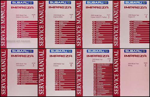 2005 subaru impreza wrx repair shop manual 8 volume set original rh faxonautoliterature com subaru wrx workshop manual pdf 2015 subaru wrx service manual