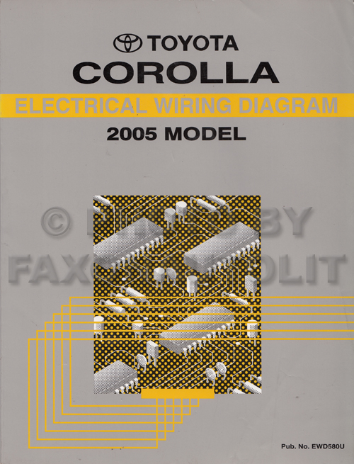 2005 toyota corolla wiring diagram manual original rh faxonautoliterature com 2005 toyota corolla wiring diagram 2005 toyota matrix radio wiring diagram
