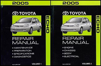 2005 toyota echo repair shop manual set original rh faxonautoliterature com echo show manual for dummies echo show manual