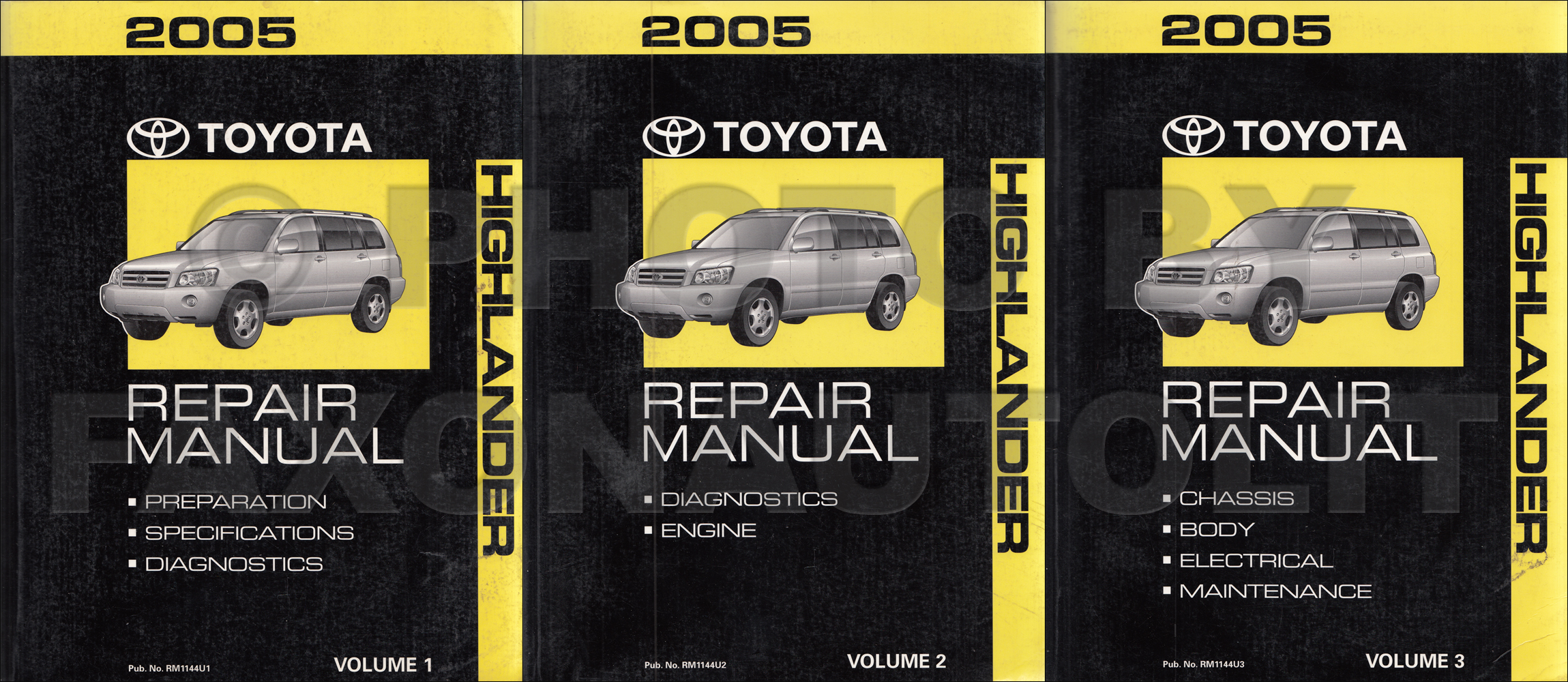 2004 Toyota Highlander Repair Manual Original Set