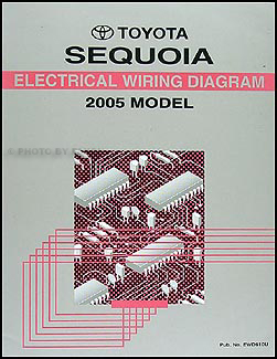 2005 Toyota Sequoia    Wiring       Diagram    Manual Original