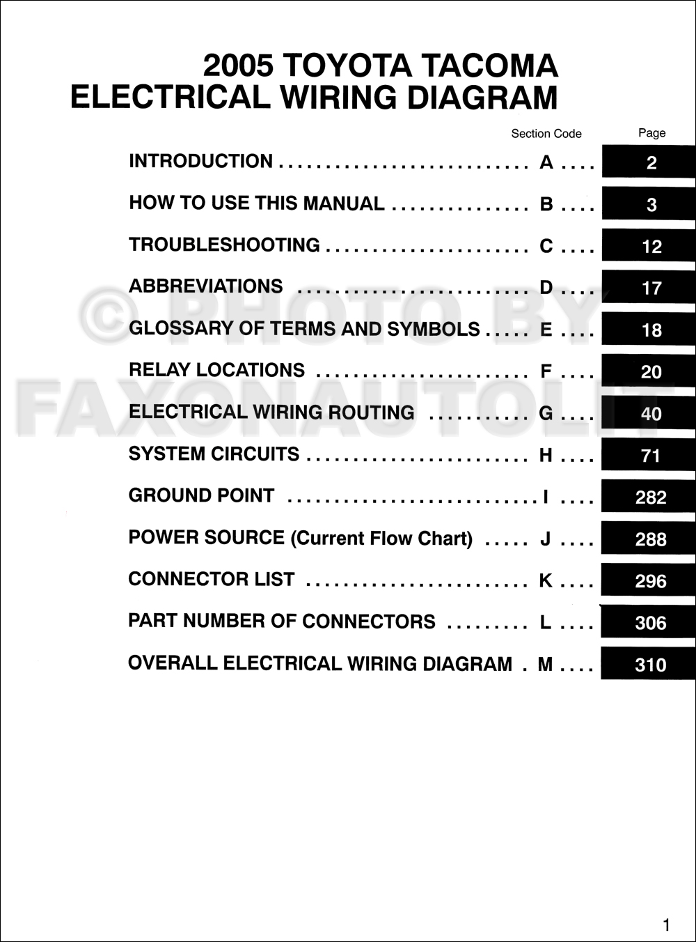 2005ToyotaTacomaOWD TOC 2005 toyota tacoma pickup wiring diagram manual original Tacoma Body Parts Diagram at creativeand.co