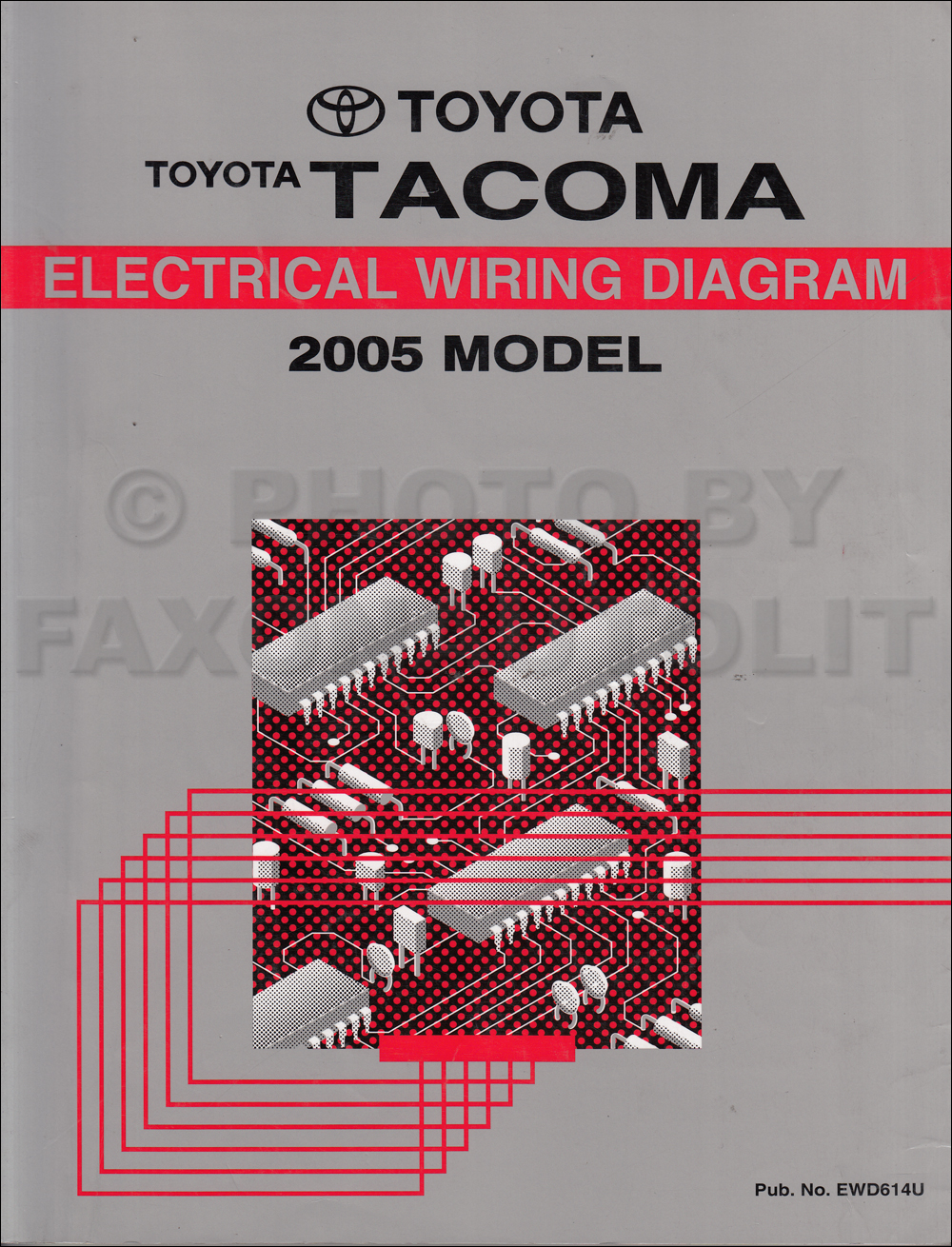2005 toyota tacoma pickup wiring diagram manual original rh faxonautoliterature com