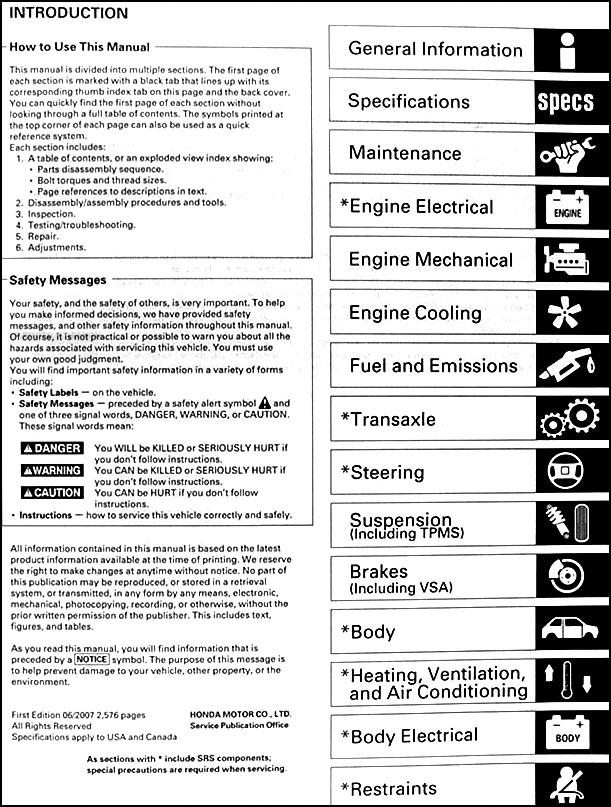 2006 2008 honda pilot repair shop manual original rh faxonautoliterature com 2014 honda pilot repair manual 2014 honda pilot repair manual