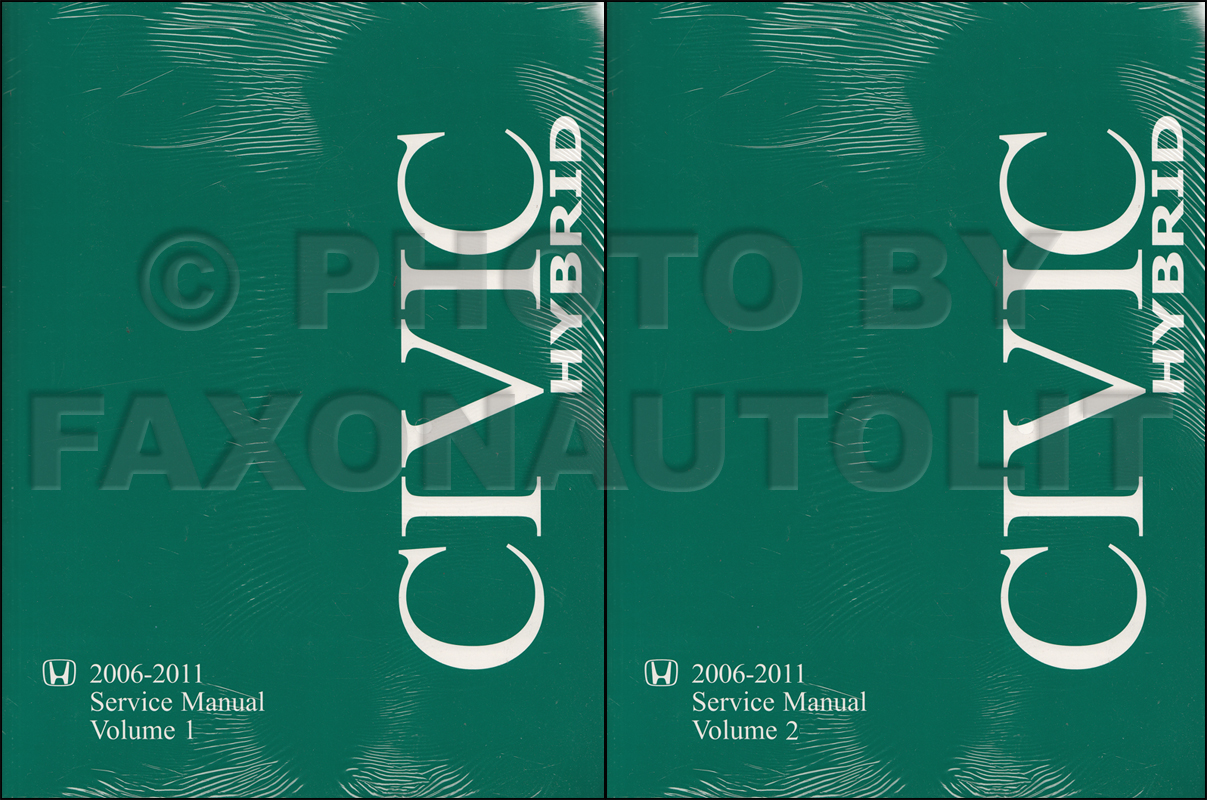 2006 2010 Honda Civic Hybrid Repair Manual Original Set