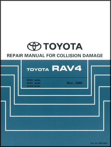 toyota rav wiring diagram manual original 2006 2012 toyota rav4 body collision repair shop manual original
