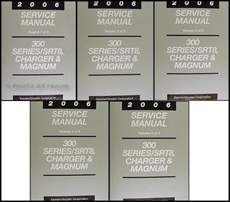 2006 srt 8 300 charger magnum repair shop manual 5 vol set original rh faxonautoliterature com Chrysler Cars 2006 chrysler 300 repair manual pdf