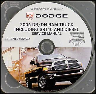 2006 dodge ram truck cd rom repair shop manual 1500 3500 srt 10 gas rh faxonautoliterature com 1998 dodge ram 3500 diesel repair manual Dodge Ram 3500 Cummins Diesel
