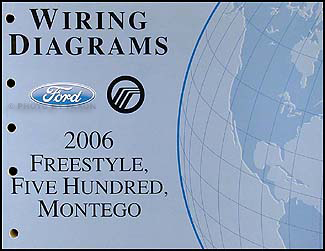 2006Ford500WD 2006 freestyle, 500, montego wiring diagram manual original 2005 ford 500 wiring diagram at crackthecode.co