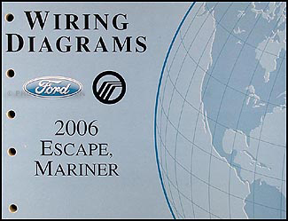 2006 ford escape mercury mariner wiring diagram manual original rh faxonautoliterature com 2006 ford escape alternator wiring diagram 2006 ford escape stereo wiring diagram
