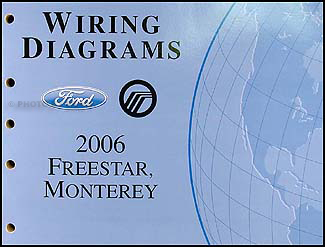 2006 Ford Freestar & Mercury Monterey Wiring Diagram Manual Original