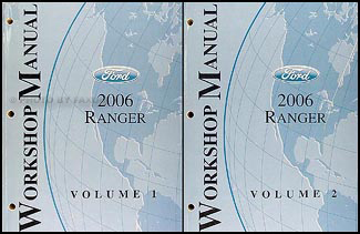 2006 ford ranger wiring diagram manual original 2006 ford ranger repair shop manual original 2 volume set 139 00