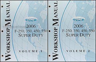 2006 ford f250 f350 f450 f550 shop manual set super duty. Black Bedroom Furniture Sets. Home Design Ideas