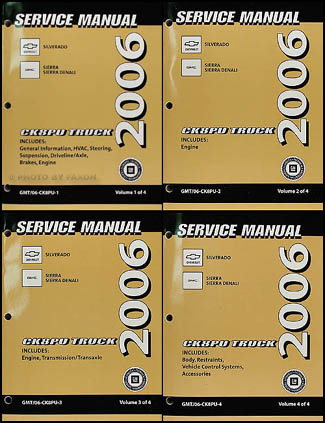 2006 chevy silverado repair manual