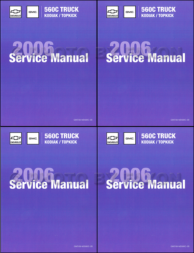 2006 Topkick & Kodiak C4500-C8500 Repair Shop Manual Factory Reprint 4 Volume Set
