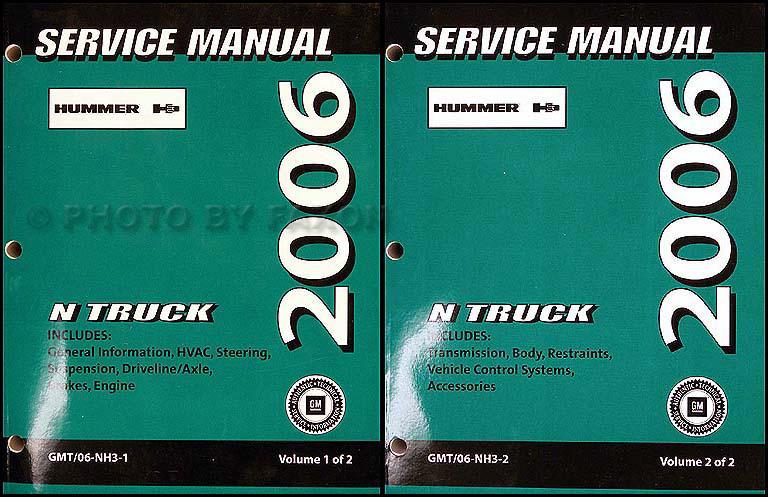 2006 Hummer H3 Repair Shop Manual Original 2 Volume Set