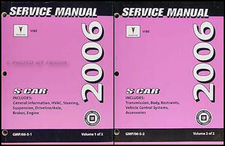 2006 pontiac vibe repair shop manual original 2 volume set rh faxonautoliterature com 2006 pontiac vibe manual transmission problems 2006 pontiac vibe manual transmission problems
