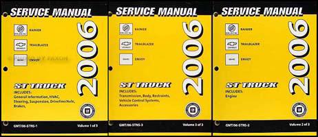 2006 rainier trailblazer envoy repair shop manual original 3 volume set rh faxonautoliterature com 2006 chevy trailblazer repair manual pdf 2006 chevy trailblazer repair manual