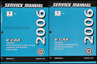 2006 pontiac gto repair shop manual original 2 volume set. Black Bedroom Furniture Sets. Home Design Ideas