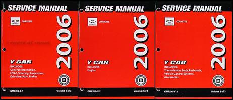 2006 Chevrolet Corvette Repair Manual Original 3 Volume Set