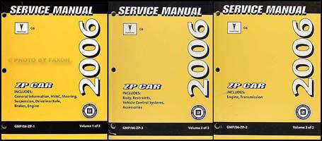 2006 pontiac g6 repair shop manual 3 volume set original rh faxonautoliterature com 2007 Pontiac G6 Fuse Diagram 2006 Pontiac G6 Engine Diagram