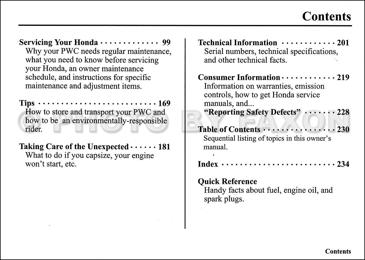 2006 honda aquatrax f 12 and f 12x owner s manual original personal rh faxonautoliterature com  2006 honda aquatrax f-12x owners manual
