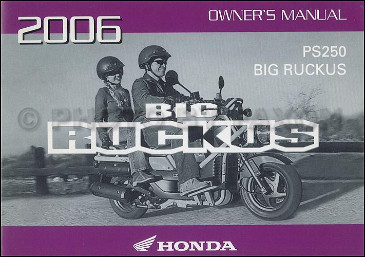 2005 honda big ruckus scooter owner 39 s manual original for Honda owner login