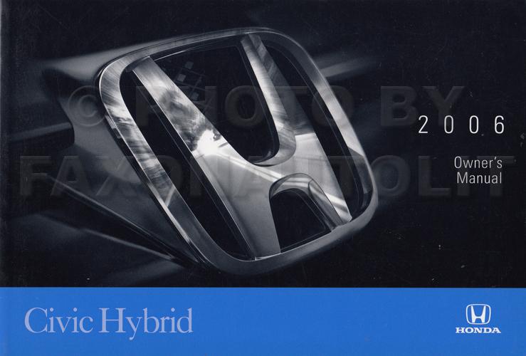 2006 honda civic hybrid owner s manual original 2006 honda civic hybrid service manual pdf 2006 Civic Repair Manual PDF