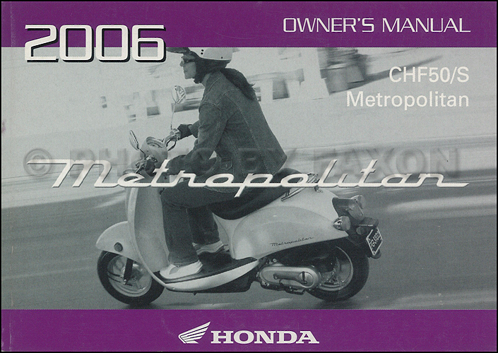 2006 Honda Metropolitan Scooter Owner S Manual Original Rh  Faxonautoliterature Com Honda Metropolitan Top Speed Honda Metropolitan  Scooter