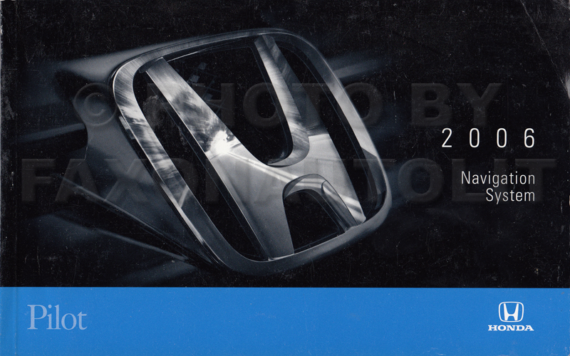 2006 honda pilot navigation system owners manual original rh faxonautoliterature com 2001 Honda Insight 2001 Honda Insight