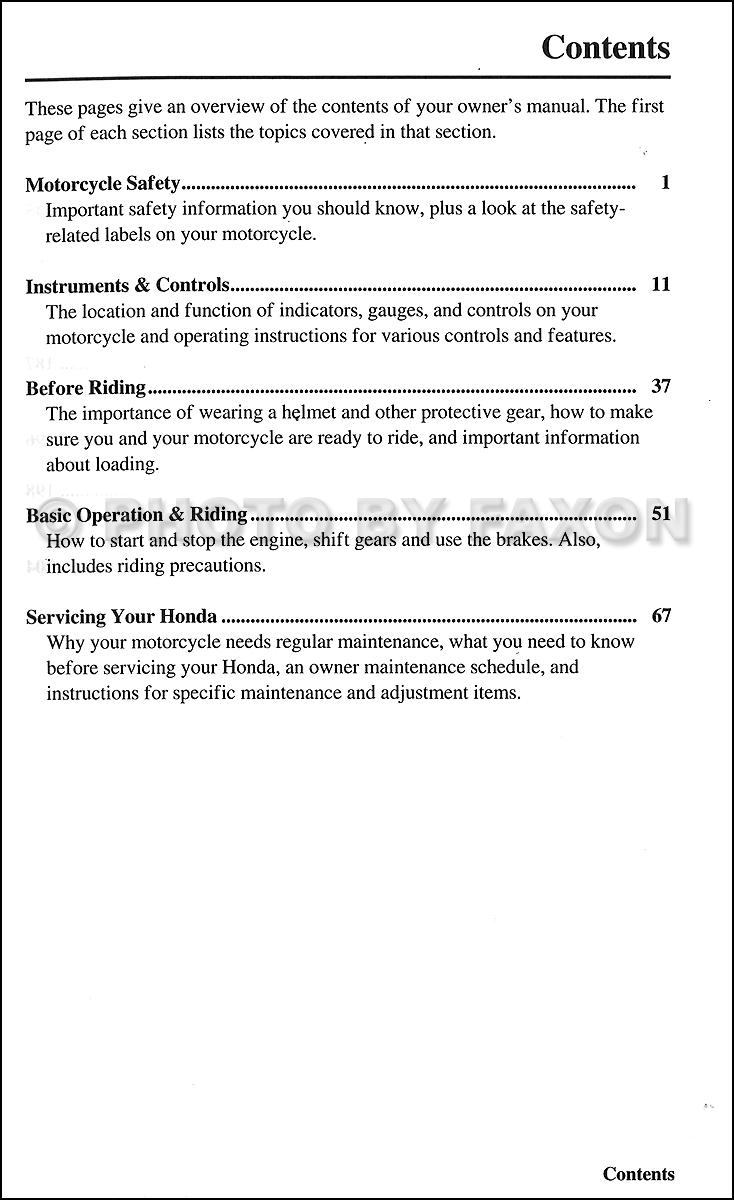 2006 honda vtx 1300c owners manual