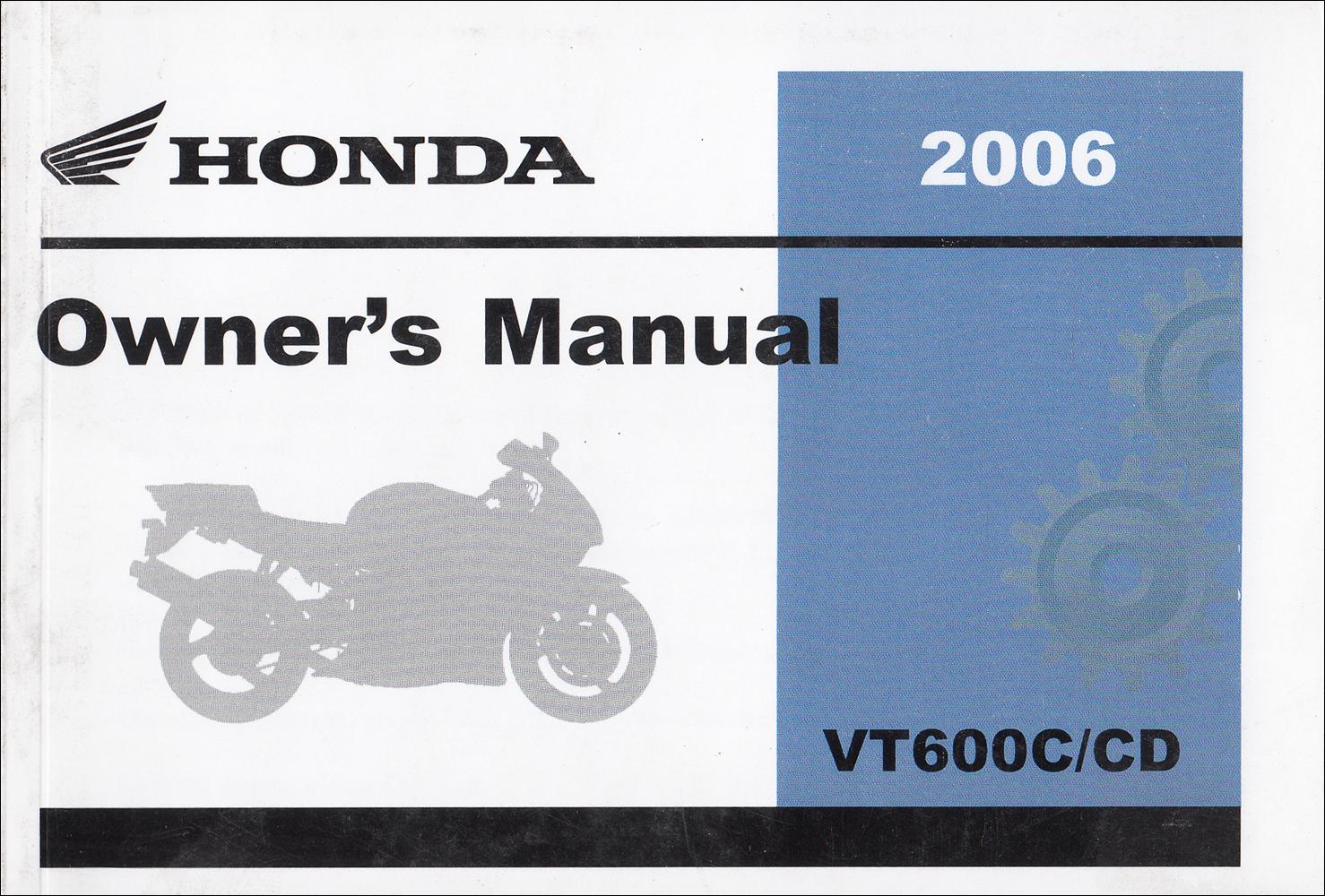 2006 honda shadow spirit 750 motorcycle owner s manual original vt750dc rh faxonautoliterature com 2013 honda sabre owners manual honda v45 sabre owners manual