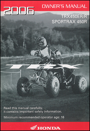 honda trx 450 manual pdf